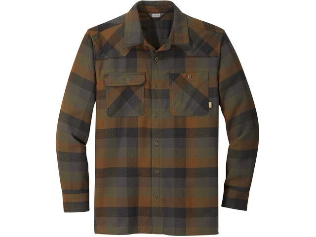 Outdoor Research Feedback Chemise à manches longues en flanelle Homme, fatigue plaid
